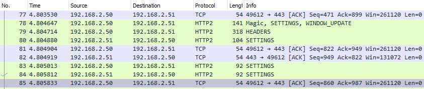 解码后的TLS网络包