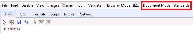 IE10 F12 developer tool