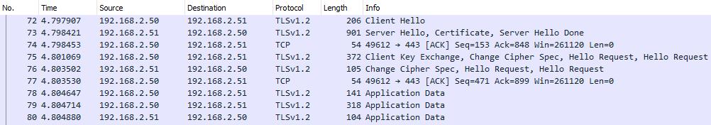 加密的TLS网络包